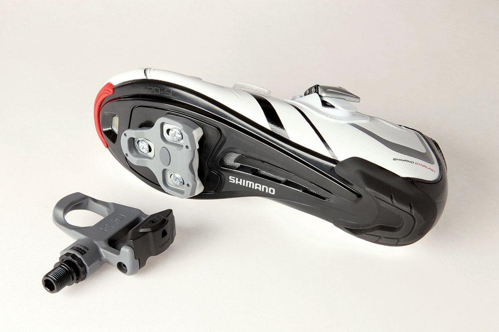 sapatilha e pedal de speed