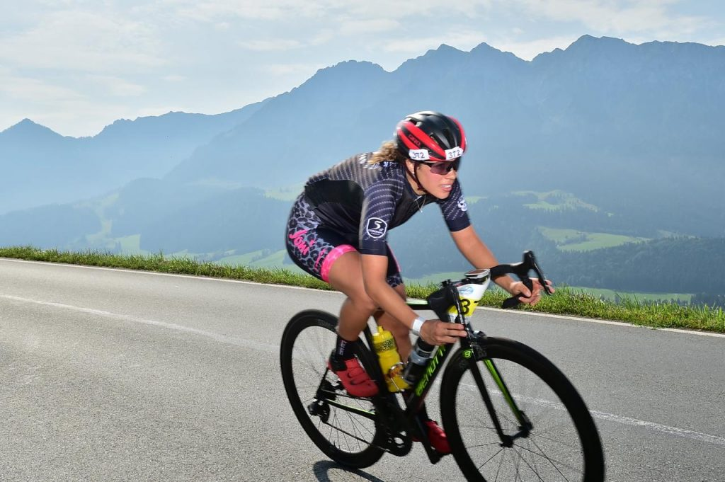 A ciclista Nadine Gill.