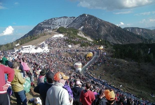 O Monte Zoncolan é emblemático do Giro d'Italia